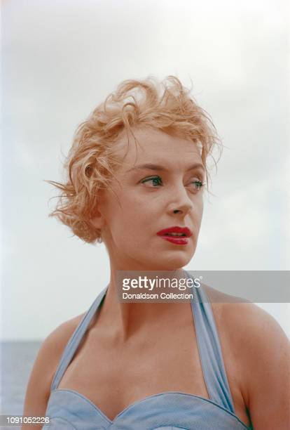 English actress Deborah Kerr poses for a photo in 1955 in Los Angeles California