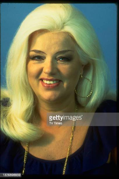 English actress Diana Dors photographed during an appearance on game show Celebrity Squares, 1979.
