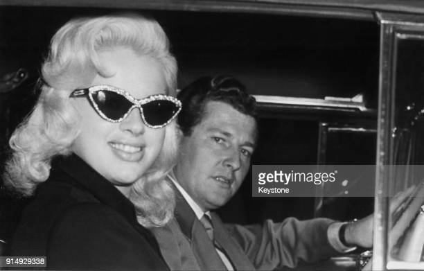 English actress Diana Dors with her husband Dennis Hamilton, 14th November 1958.