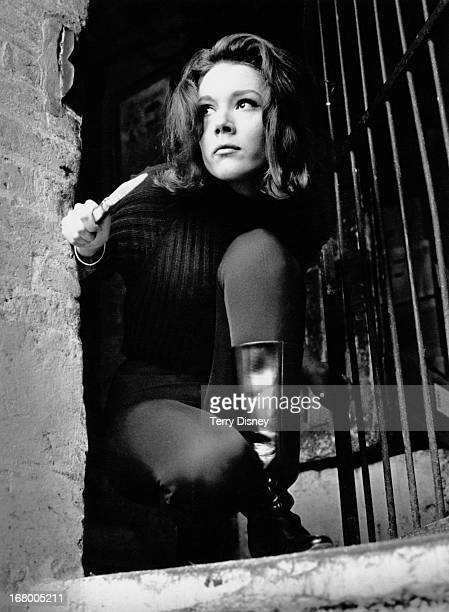 English actress Diana Rigg as Emma Peel in the television series 'The Avengers', 14th December 1964.