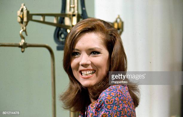 English actress Diana Rigg pictured in her role as 'Emma Peel' from the television series 'The Avengers' in 1968.