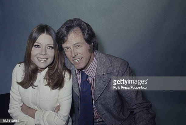English actress Diana Rigg pictured together with American actor Robert Culp with whom she appears in the television play 'Married Alive' in London...
