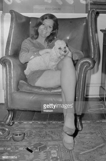 English actress Diana Rigg with her dog UK 22nd July 1967