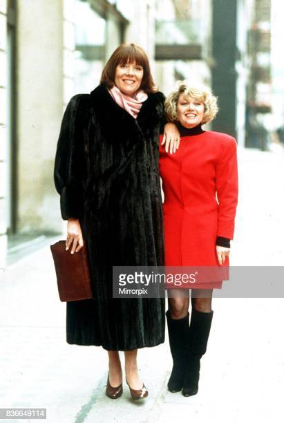 English actress Diana Rigg with singer and entertainer Elaine Paige