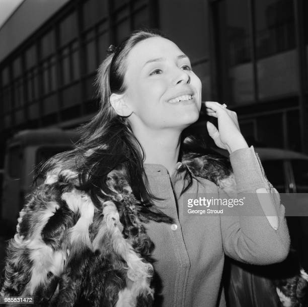 English actress Diane Keen at Heathrow Airport London UK 23rd March 1969
