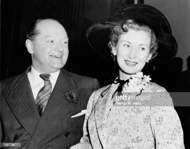 English actress Dinah Sheridan marries John Davis Managing Director of the Rank Organisation at Caxton Hall in London 3rd March 1954