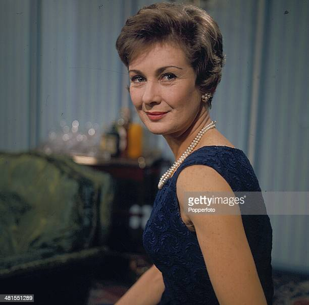 1968 English actress Dinah Sheridan posed on the set of the television drama series 'Armchair Theatre The Contact' in 1968