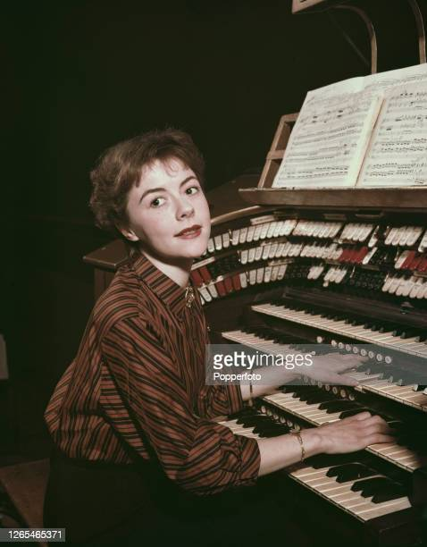 English actress Dorothy Tutin plays the organ at the Pavilion Theatre in Bournemouth, Dorset in April 1953. Dorothy Tutin is currently playing the...