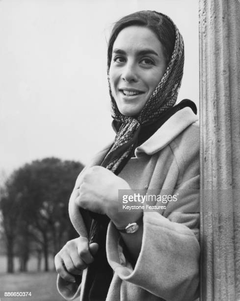English actress Eleanor Bron in a park in London November 1964