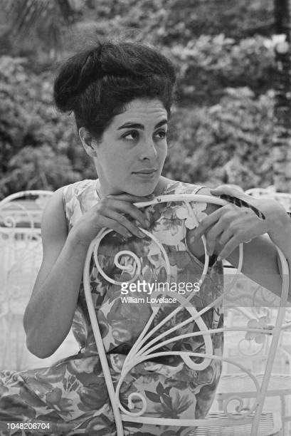English actress Eleanor Bron pictured during production and filming of the British musical comedy film Help featuring The Beatles on New Providence...