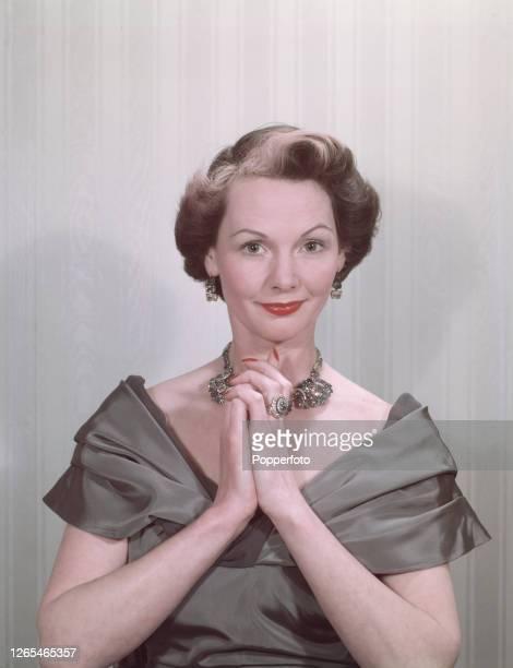 English actress Elizabeth Allan posed in April 1952.