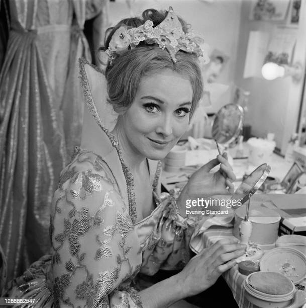 English actress Elizabeth Counsell at her dressing table, UK, January 1968.