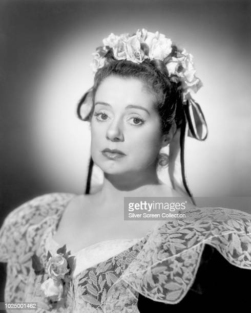 English actress Elsa Lanchester in period costume circa 1945