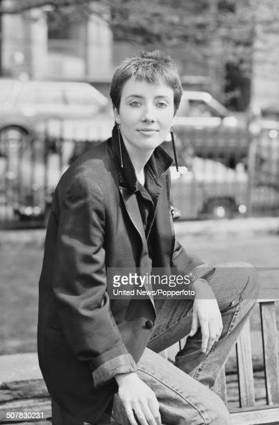 English actress Emma Thompson from the television comedy series Alfresco posed in London on 25th April 1983