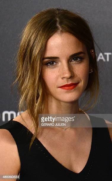 English actress Emma Watson poses during the photocall of HispanoChilean director Alejandro Amenabar's movie Regression in Madrid on August 27 2015...