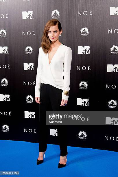 English actress Emma Watson poses for the photographers during the Spain Premiere of the movie 'Noah' in Madrid Spain Monday March 17 2014Photo Oscar...