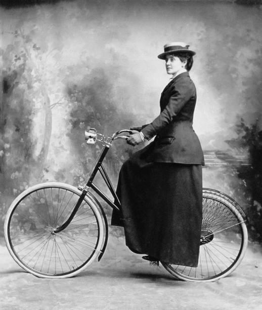 Lady Cyclist Wall Art