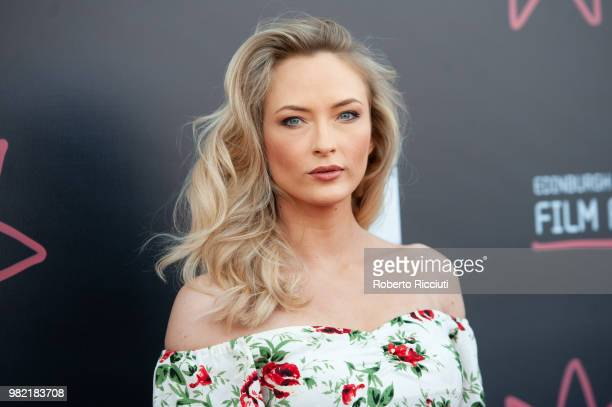 English actress Felicity Gilbert attends a photocall for the World Premiere of 'Lucid' during the 72nd Edinburgh International Film Festival at...