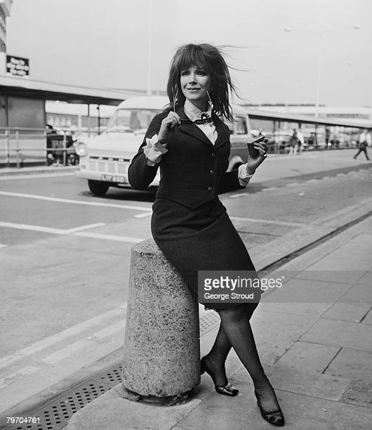 English actress Fenella Fielding leaves London Airport for Ireland 21st April 1968