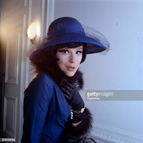 English actress Fenella Fielding pictured in character as Mrs Garfield on the set of the television drama 'Mrs Quilley's Murder Shoes' in 1965