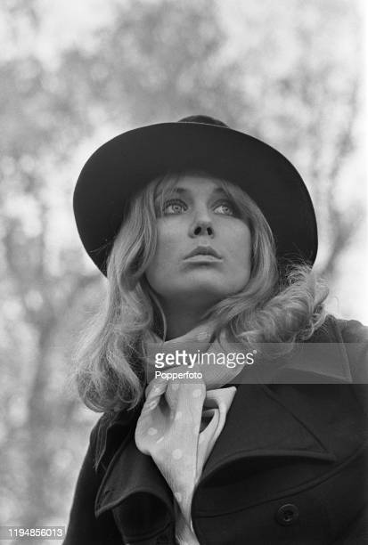 English actress Fiona Lewis posed in November 1967.
