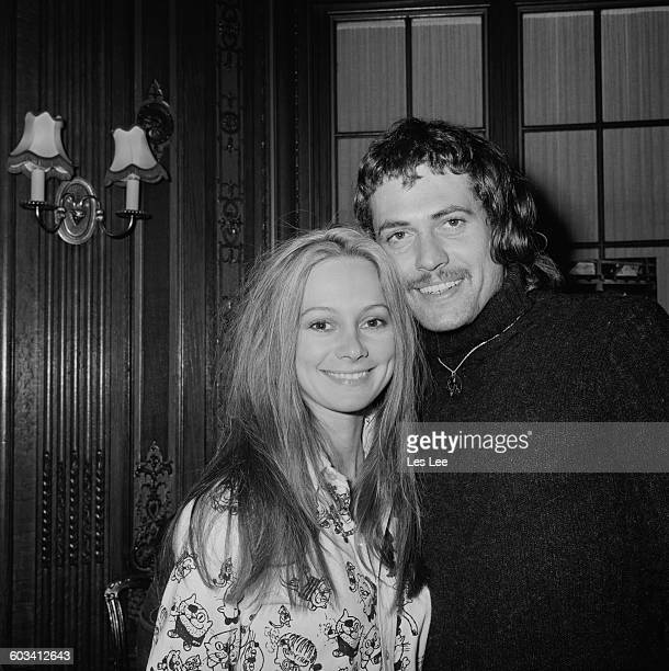 English actress Francesca Annis and actor Jon Finch UK 18th February 1971 They are costarring as Macbeth and Lady Macbeth in the 1971 film version of...