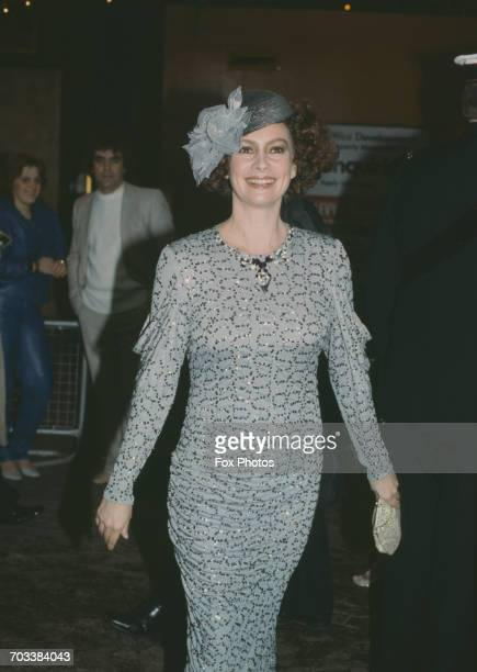 English actress Francesca Annis at the premiere of the film 'Dune', London, December 1984.