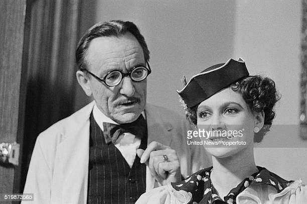 English actress Francesca Annis pictured with Eric Porter in character as Lady Frances Derwent and Doctor Nicholson during production of the...