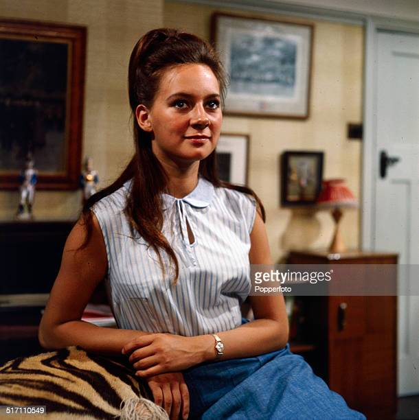 English actress Francesca Annis posed on the set of the television drama 'Armchair Theatre Old Soldiers' in 1964
