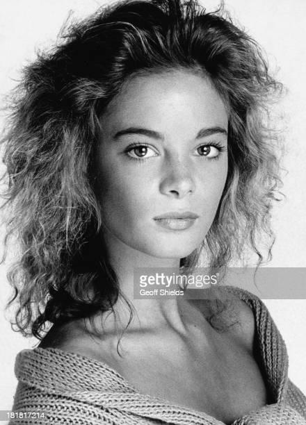 English actress Gabrielle Anwar, London, 1988.