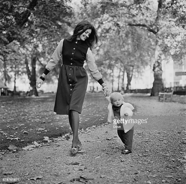 English actress Gayle Hunnicutt with her son Nolan Hemmings UK 21st October 1971 Nolan's father is the actor/director David Hemmings and he later...