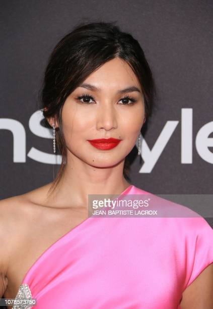 English actress Gemma Chan arrives for the Warner Bros and In Style 20th annual post Golden Globes party at the Oasis Courtyard of the Beverly Hilton...