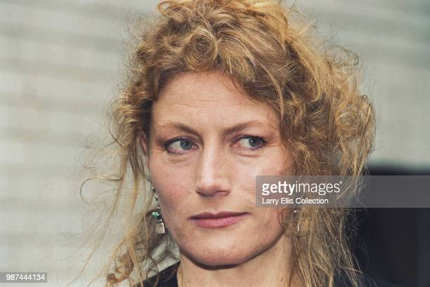 English actress Geraldine James pictured at a press call to promote the BBC Television film 'Doggin' Around' in which she appears October 1994