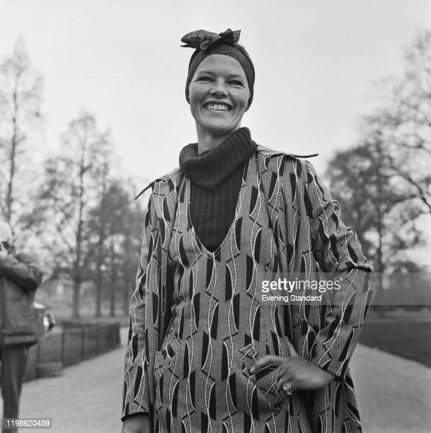 English actress Glenda Jackson posed in Kensington Gardens in London on 16th April 1971. Glenda Jackson currently appears as Elizabeth I in the BBC...