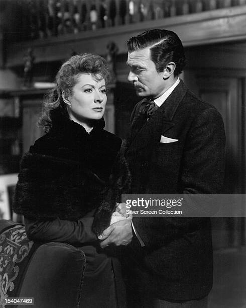 English actress Greer Garson as Irene Forsyte and Canadian actor Walter Pidgeon as the young Jolyon Forsyte in 'That Forsyte Woman' aka 'The Forsyte...