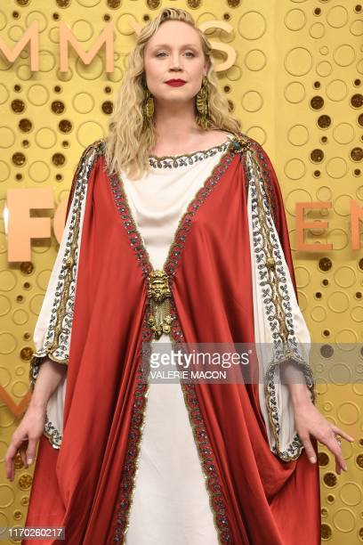 English actress Gwendoline Christie arrives for the 71st Emmy Awards at the Microsoft Theatre in Los Angeles on September 22 2019
