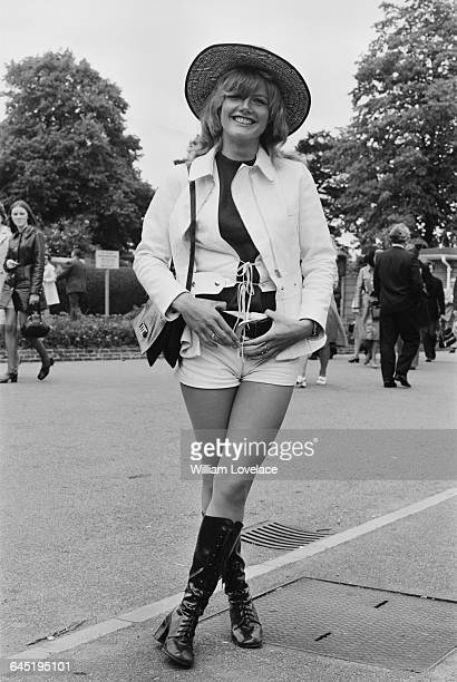 English actress Heather Wright attends the Wimbledon Chamionships in London UK 21st June 1971