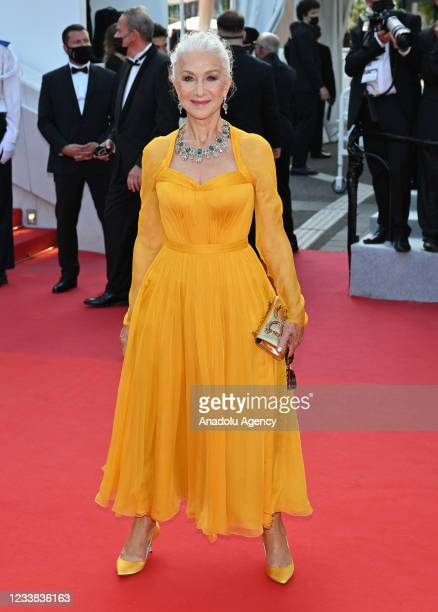 English actress Helen Mirren arrives for the screening of the film âAnnette' in competition and the Opening Ceremony of the 74th annual Cannes Film...