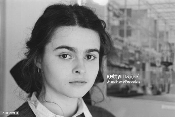 English actress Helena Bonham Carter posed in London on 28th May 1986