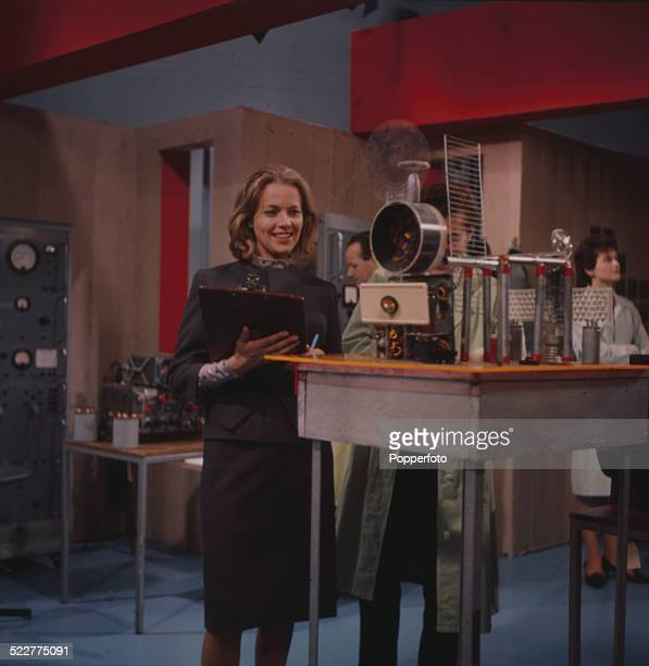 English actress Honor Blackman pictured in character as Cathy Gale in a scene from the television series The Avengers in 1964