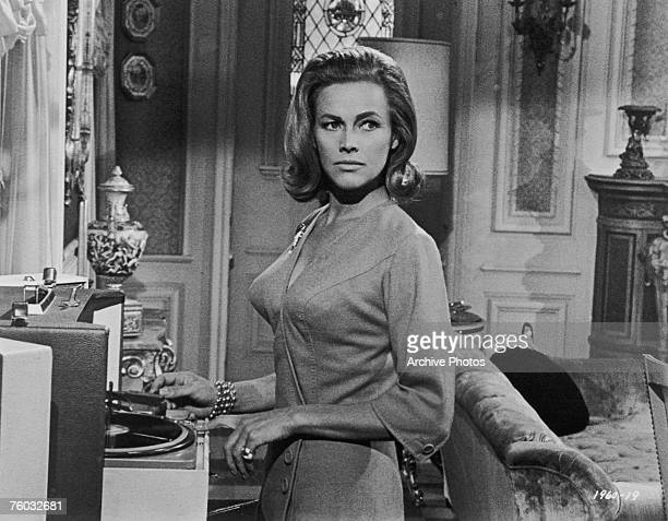 English actress Honor Blackman stars as Daphne Fields in the Universal Pictures thriller 'Moment to Moment' 1965