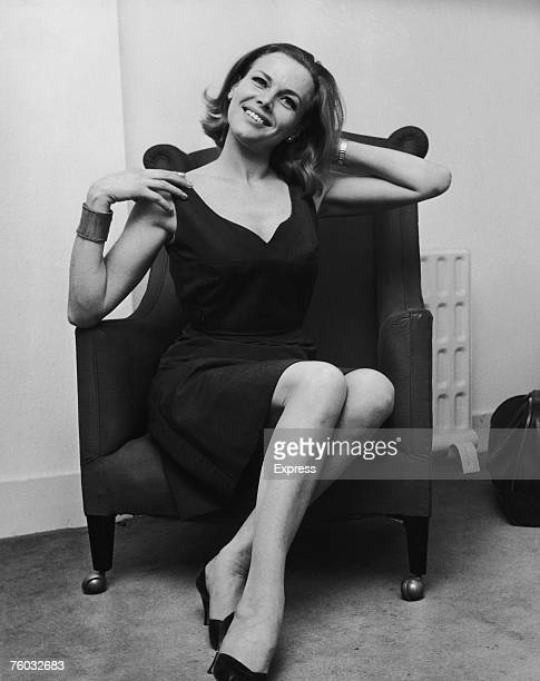 English actress Honor Blackman who is to play Pussy Galore in the new James Bond film 'Goldfinger' 22nd February 1964