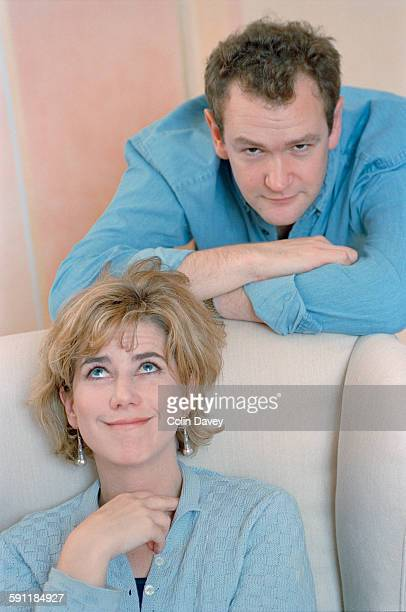 English actress Imogen Stubbs with her second cousin actor and comedian Alexander Armstrong UK 21st November 1997