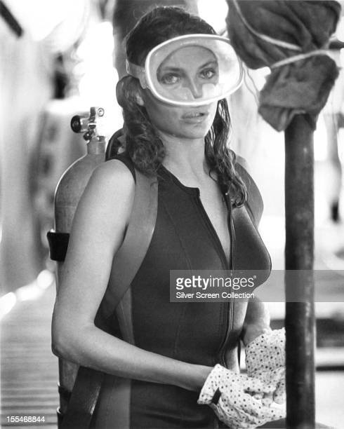 English actress Jacqueline Bisset as Gail Berke in 'The Deep', directed by Peter Yates, 1977.