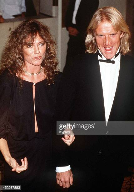 English actress Jacqueline Bisset with her partner Russian actor and ballet dancer Alexander Godunov circa 1988