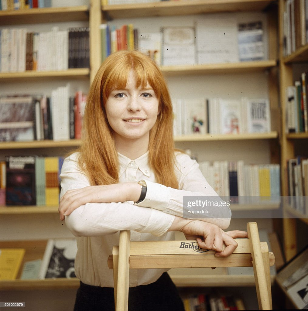 English actress Jane Asher posed in a library in 1966.