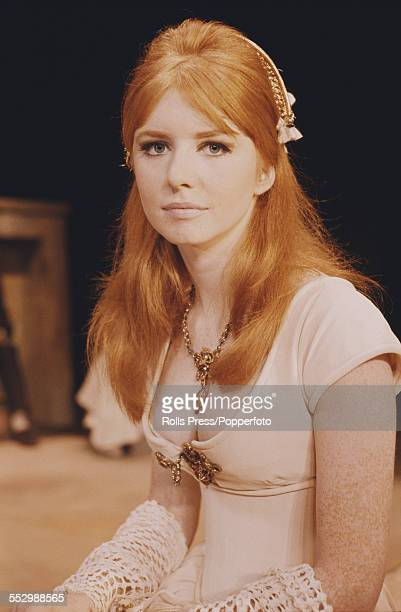 English actress Jane Asher pictured dressed in character as Perdita during a production of William Shakespeare's play 'The Winter's Tale' at the...