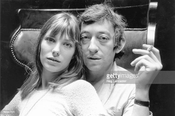English actress Jane Birkin and French musician Serge Gainsbourg at home in Paris