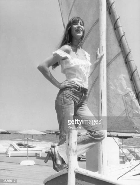 English actress Jane Birkin enjoys a sunsoaked holiday on the Cote d'Azur 16th July 1973