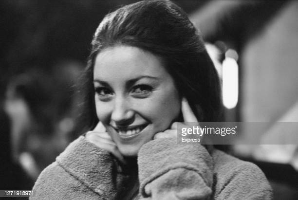 English actress Jane Seymour as tarot reader Solitaire in the James Bond film 'Live And Let Die', being filmed at Pinewood Studios in England, 8th...